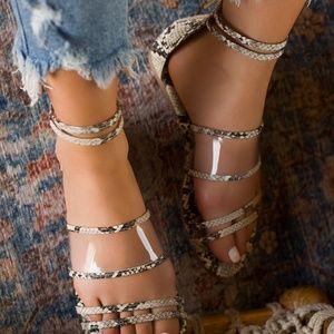 Miss Lola Spirit of The Wild Snakeskin Sandals